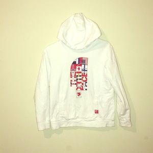 White north face Olympic hoodie